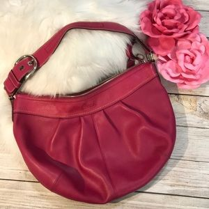 Pink Fuchsia Coach leather hobo bag